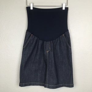 Liz Lange Maternity Dark Denim Skirt